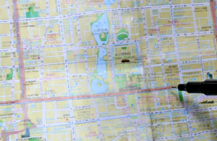 Janko Matic Tiananmen-map